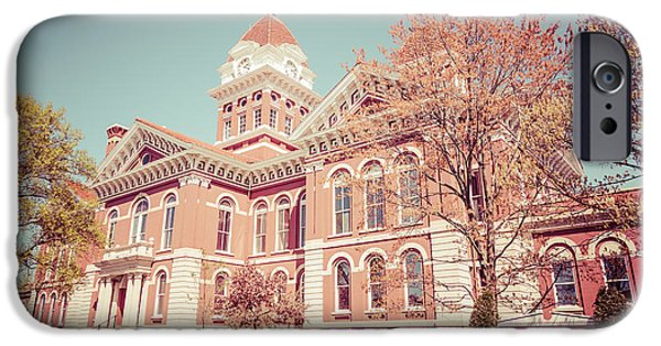 1800 iPhone Cases - Old Lake County Courthouse Retro Photo iPhone Case by Paul Velgos