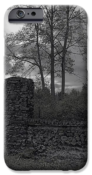 OLD LIBERTY PARK RUINS in Spokane Washington iPhone Case by Daniel Hagerman