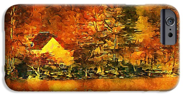 Log Cabin Mixed Media iPhone Cases - Old log Cabin iPhone Case by Roman Solar