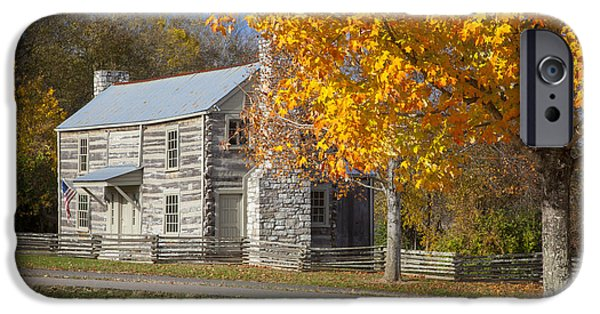Pioneer Homes iPhone Cases - Old Log House iPhone Case by Brian Jannsen