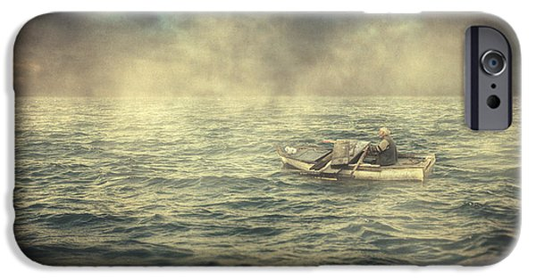 Poetic iPhone Cases - Old man and the sea iPhone Case by Taylan Soyturk