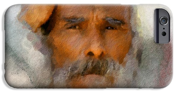 Character Study iPhone Cases - Old Man iPhone Case by Bob Galka