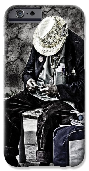 Problems iPhone Cases - Old Man iPhone Case by Erik Brede