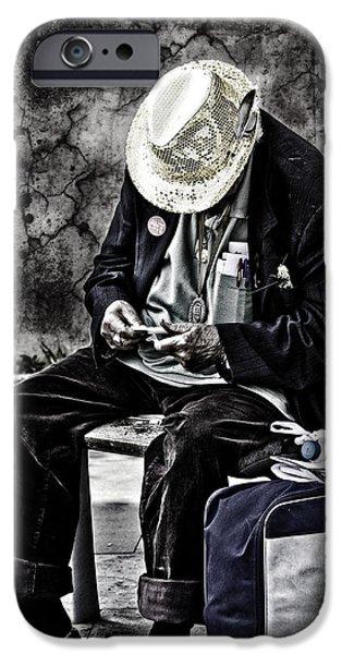 Old Man iPhone Case by Erik Brede