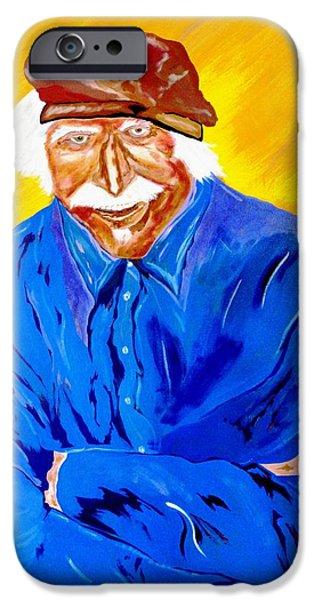 Hawk Art Giclee iPhone Cases - Old Man Hawk-Artist Rendition iPhone Case by Bill Manson