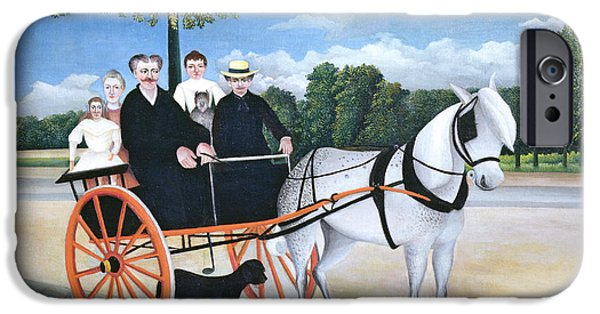 Reining iPhone Cases - Old Man Juniers Trap, 1908 Oil On Canvas iPhone Case by Henri J.F. Rousseau
