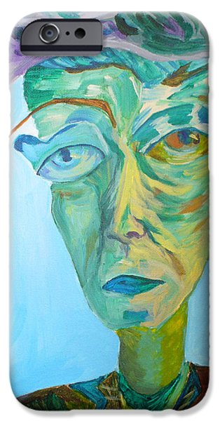 Het Paintings iPhone Cases - Old man iPhone Case by Natalia Lebed