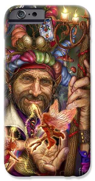 Gypsy Digital iPhone Cases - Old Man of the Woods iPhone Case by Ciro Marchetti