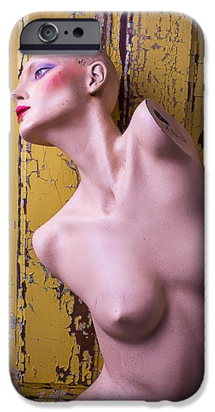 Chip iPhone Cases - Old Mannequin iPhone Case by Garry Gay