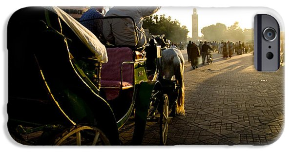 Buggy iPhone Cases - Old Marrakesh Scene iPhone Case by David Smith