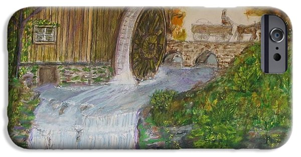 Grist Mill iPhone Cases - Old Mill iPhone Case by Larry Lamb