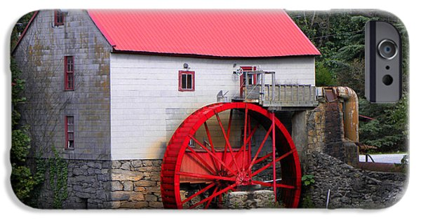 Grist Mill iPhone Cases - Old Mill of Guilford iPhone Case by Sandi OReilly