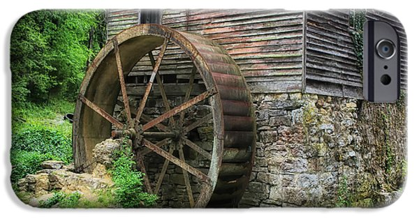 Gatlinburg iPhone Cases - Old Mill Outside Gatlinburg iPhone Case by Mountain Dreams