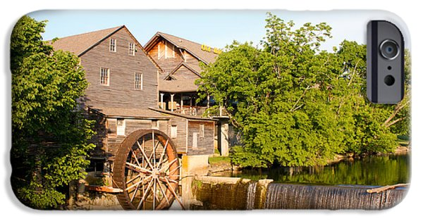 Tennessee Historic Site iPhone Cases - Old Mill Pigeon Forge Tennessee iPhone Case by Cynthia Woods