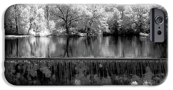 Grist Mill iPhone Cases - Old Mill Pond in Infrared iPhone Case by Paul W Faust -  Impressions of Light
