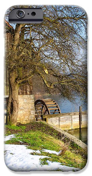 Old Mill Scenes iPhone Cases - Old Mill iPhone Case by Sinisa Botas