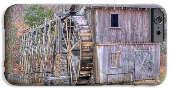 Arkansas iPhone Cases - Old Mill Water Wheel and Sluce iPhone Case by Douglas Barnett