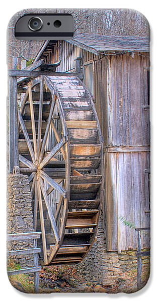 Old Mill Water Wheel and Sluce iPhone Case by Douglas Barnett