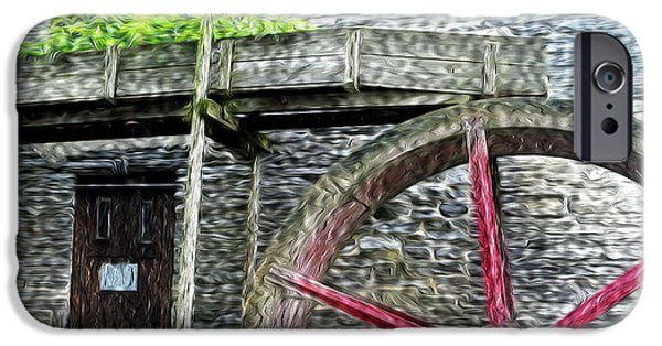 Grist Mill iPhone Cases - Old Mill Wheel iPhone Case by Paul W Faust -  Impressions of Light