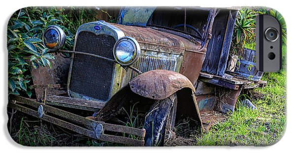 Engulfing iPhone Cases - Old Model T Ford in the Jungle Maui Hawaii iPhone Case by Edward Fielding