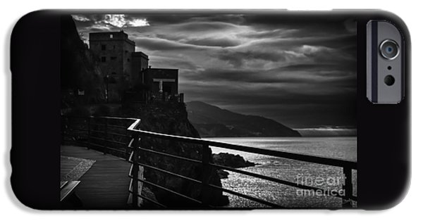 Charly iPhone Cases - Old Monterosso iPhone Case by Prints of Italy