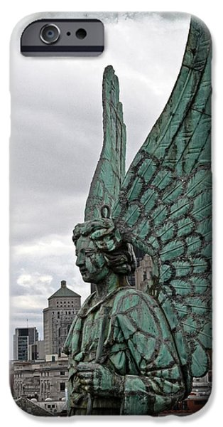Old Montreal Angel Filmstrip iPhone Case by Alice Gipson