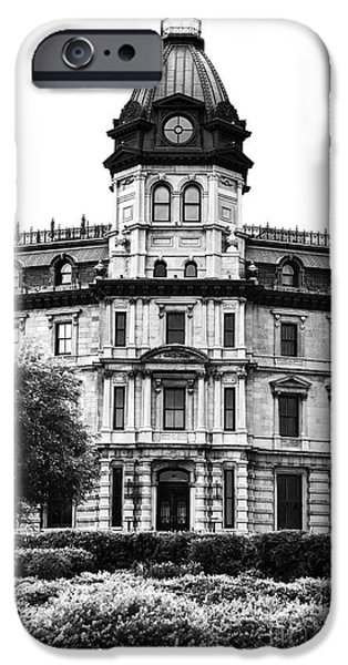 Monotone iPhone Cases - Old Montreal History iPhone Case by John Rizzuto