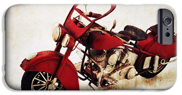 Technology Mixed Media iPhone Cases - Old motor-bike iPhone Case by Angela Doelling AD DESIGN Photo and PhotoArt