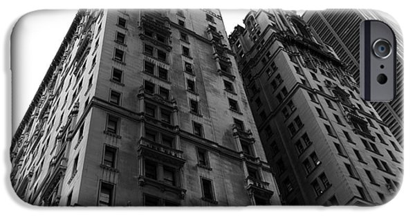 Old And New iPhone Cases - Old New York Design mono iPhone Case by John Rizzuto