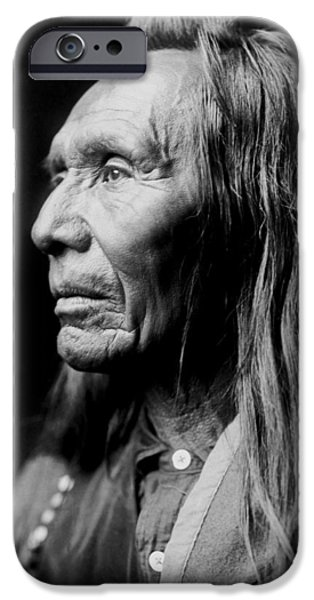 Portrait Of Old Man iPhone Cases - Old Nez Perce Man circa 1910 iPhone Case by Aged Pixel