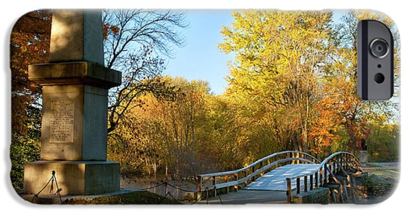 Concord Ma. iPhone Cases - Old North Bridge iPhone Case by Brian Jannsen