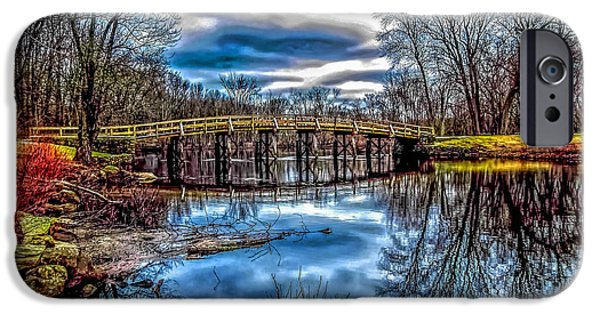 Concord Ma. iPhone Cases - Old North Bridge iPhone Case by Larry  Richardson