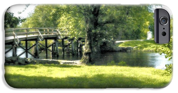 Concord Massachusetts iPhone Cases - Old North Bridge iPhone Case by Nigel Fletcher-Jones