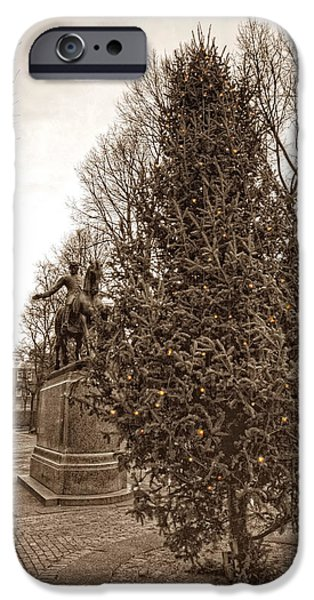 Old North Church and Paul Revere iPhone Case by Joann Vitali