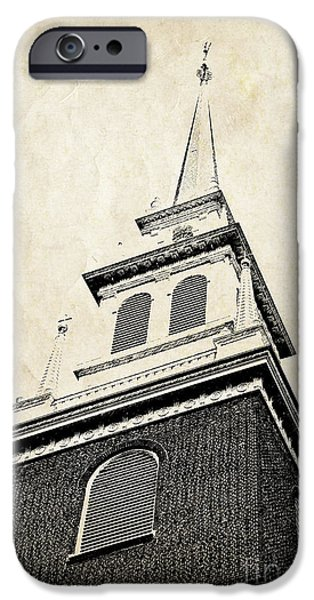 City. Boston iPhone Cases - Old North Church in Boston iPhone Case by Elena Elisseeva