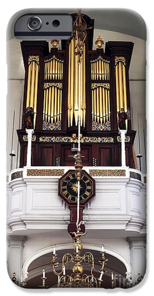 Old North Church Organ iPhone Case by John Rizzuto