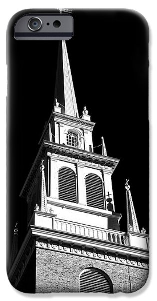 Best Sellers -  - Boston Ma iPhone Cases - Old North Church Star iPhone Case by John Rizzuto