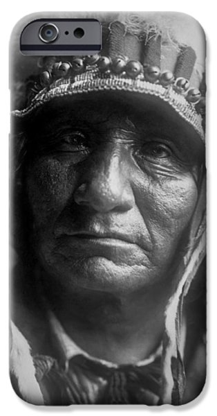 1907 iPhone Cases - Old Oglala Man circa 1907 iPhone Case by Aged Pixel