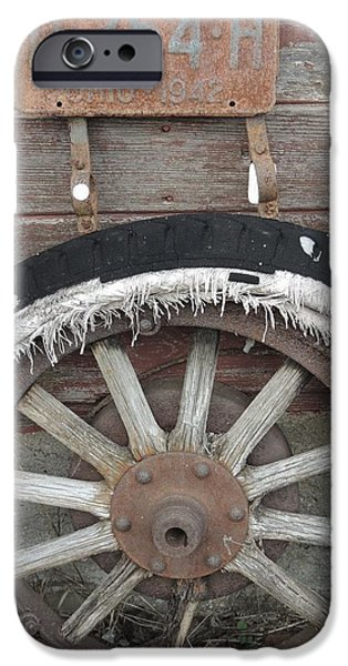 Todd Sherlock Photographs iPhone Cases - Old Old Tire iPhone Case by Todd Sherlock