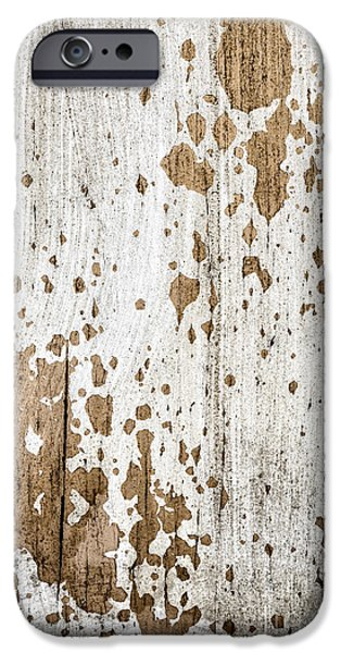 Chip iPhone Cases - Old painted wood abstract No.3 iPhone Case by Elena Elisseeva