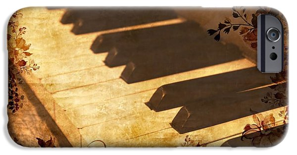Piano iPhone Cases - Old piano iPhone Case by Guna  Andersone