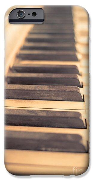 Old Piano Keys iPhone Case by Edward Fielding