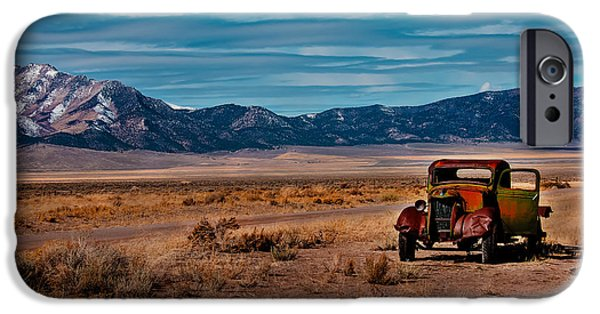 Haybale iPhone Cases - Old Pickup iPhone Case by Robert Bales