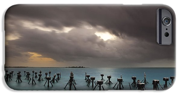 Garden Scene iPhone Cases - Old Pier in the Florida Keys iPhone Case by Keith Kapple