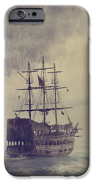 Old Pirate Ship iPhone Case by Jelena Jovanovic