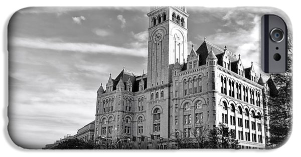 D.c. iPhone Cases - Old Post Office and Pennsylvania Avenue iPhone Case by Olivier Le Queinec
