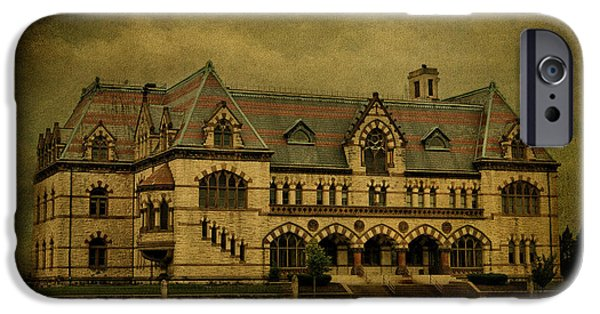 Evansville iPhone Cases - Old Post Office - Customs House iPhone Case by Sandy Keeton