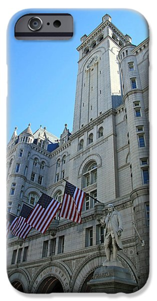 Cora Wandel iPhone Cases - The Old Post Office Or Trump Tower -- 2 iPhone Case by Cora Wandel