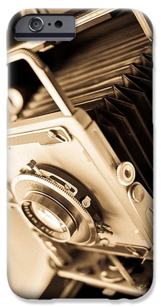 Sheets iPhone Cases - Old Press Camera iPhone Case by Edward Fielding