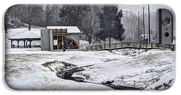 Winter Storm iPhone Cases - Old Pump Station iPhone Case by Aaron  Shortt